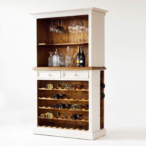 Fato luxmeble Postarzany regał z półkami na wino bergel