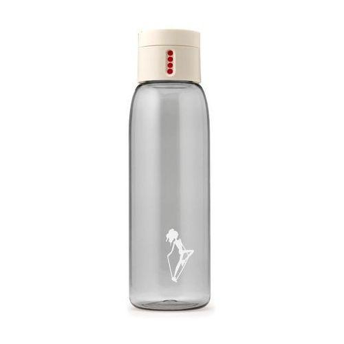 Butelka na wodę dot anna lewandowska kremowa mała grafika marki Healthy plan by ann