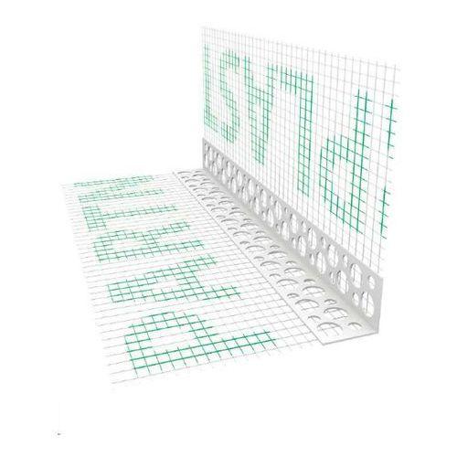 Narożnik pcv perforowany z siatką (146 g/m²) 200 mm l= 2,5mb pakiet 100szt. marki Emaga