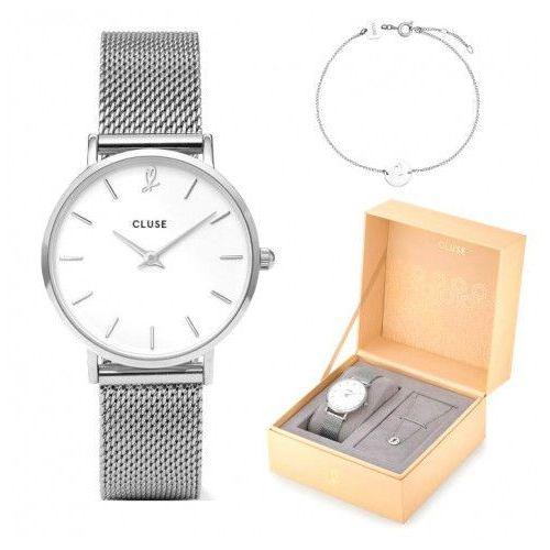 Zegarek Cluse Minuit Heart CLG011 + Bransoletka Komplet Gift Box