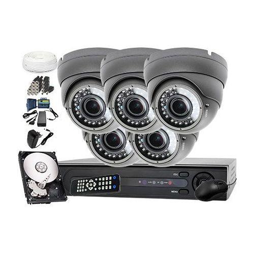 Zestaw do monitoringu: rejestrator lv-xvr84+ 5x kamera lv-al40hvd + dysk 1tb + akcesoria marki Ivelset
