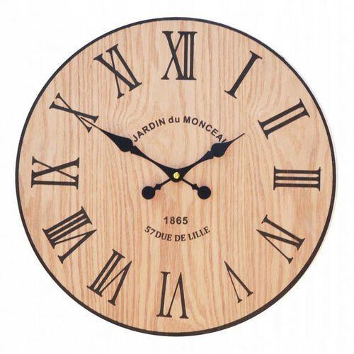 Zegar ścienny drewniany RZYMSKI 40 cm retro loft