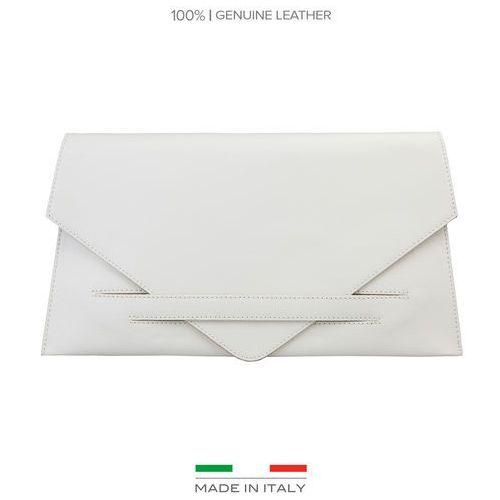 Torebka kopertówka MADE IN ITALIA - COSTANZA-20, kolor biały