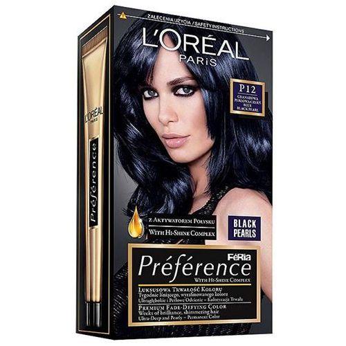 préférence farba do włosów odcień p12 blue black pearl marki L'oréal paris