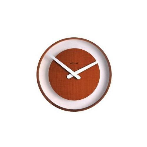 Nextime :: zegar ścienny wood loop ciemny Ø30cm