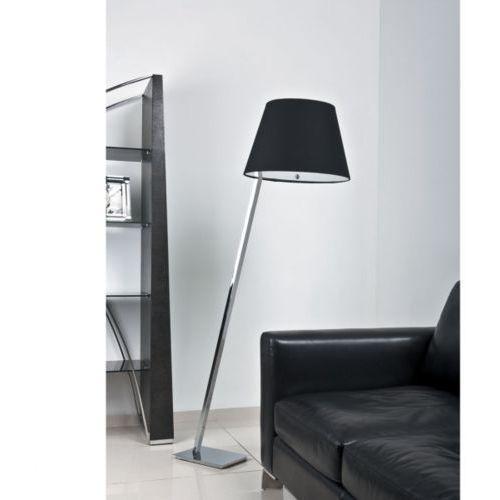 Lampa podłogowa orlando satyna z czarnym abażurem, 5103f/blnm marki Maxlight