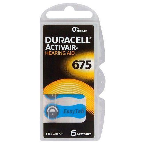 6 x baterie do aparatów słuchowych Duracell ActivAir 675 MF