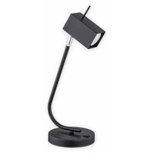 Lemir faro o2588 l1 cza lampa stołowa lampka 1x60w gu10 czarny matowy