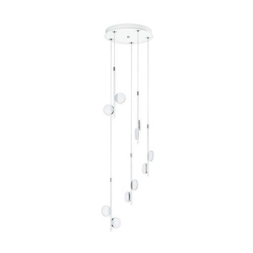 Lampa wisząca Eglo Olindra 96932 zwis 10x2,2W LED 2500lm 3000K biała/chrom, 96932