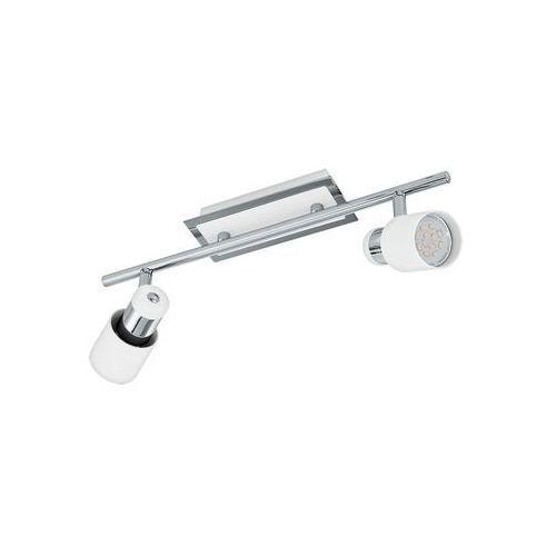 Eglo Lampa sufitowa davida 92085 listwa spot 2x5w gu10-led biała/chrom (9002759920852)