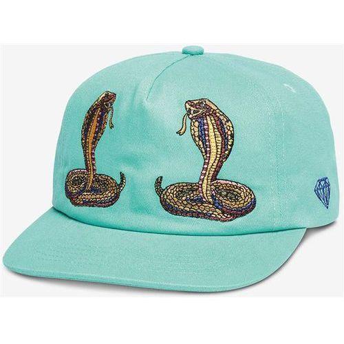 czapka z daszkiem DIAMOND - Cobra Unstructured Strapback Diamond Blue (DBLU), kolor niebieski