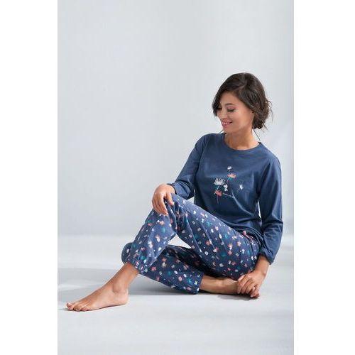 Piżama Luna 566 dł/r M-2XL XL, łososiowy, Luna, 5902080566412