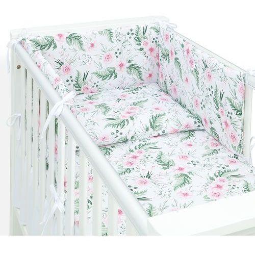 ochraniacz dla niemowląt do łóżeczka 70x140 - różany ogród marki Mamo-tato
