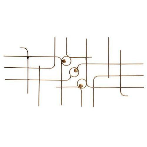dekoracja ścienna symphony metalowa antyczny mosiądz 800288-b marki Be pure