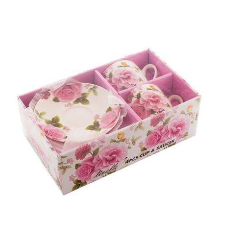 Livello 2 filiżanki z porcelany na prezent róże różyczki