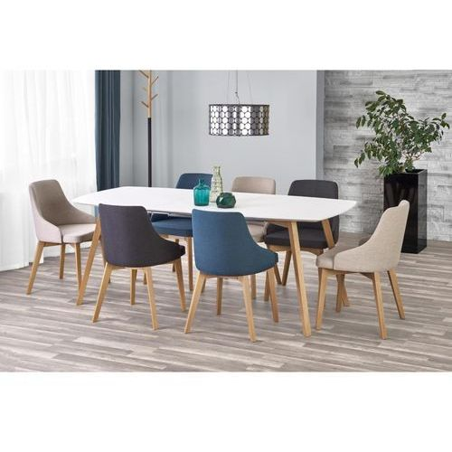 Halmar Zestaw stołowy - kajetan + 7 krzeseł toledo