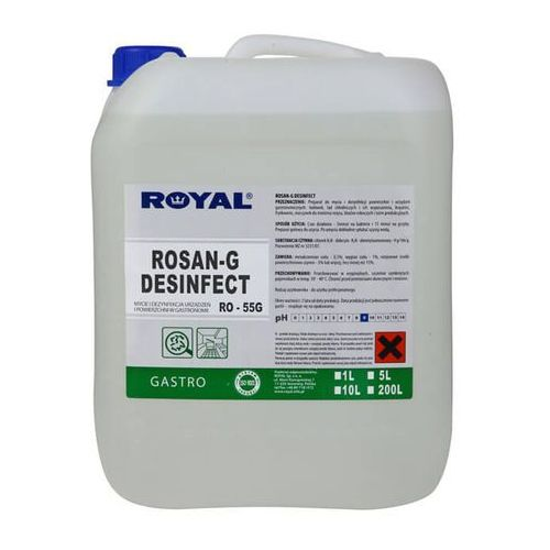 Royal ro-55g rosan-g desinfect 5l preparat o działaniu antybakteryjnym