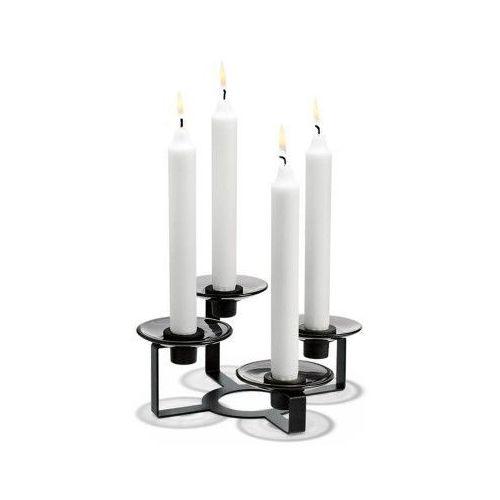 Lumi świecznik na 4 świece, czarny - marki Holmegaard