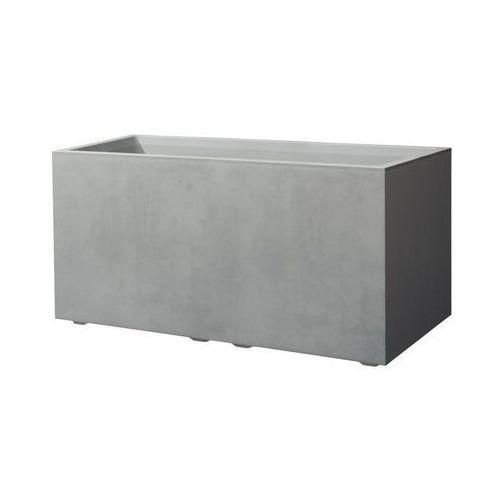 Deroma Skrzynka balkonowa 79 x 39.5 cm plastikowa szara cass mil (0726232793687)
