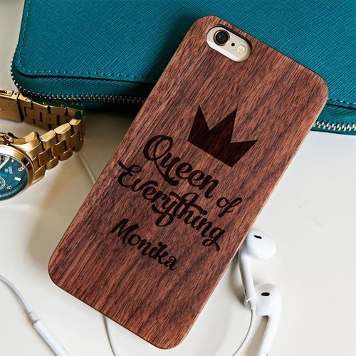 Queen of everything - Drewniana Obudowa - Wiśnia - iPhone 5/5s/SE (obudowa do telefonu)