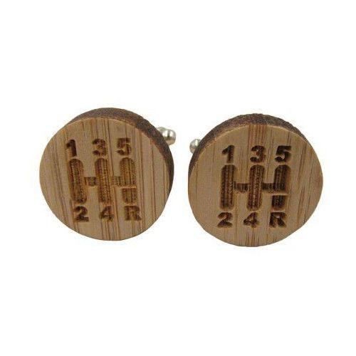 Spinki do mankietów drewniane SKRZYNIA BIEGÓW