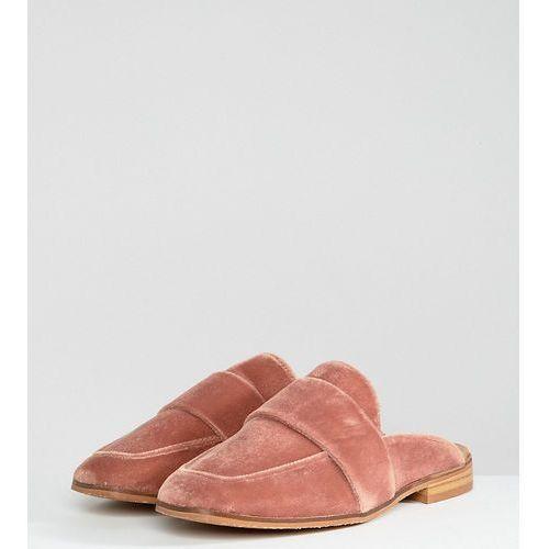 Free people at ease velvet contrast backless loafer - pink