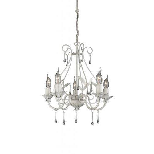 Lampa wisząca zwis Philips Madison 5X60W E14 biała 41814/31/10 (5412253944331)
