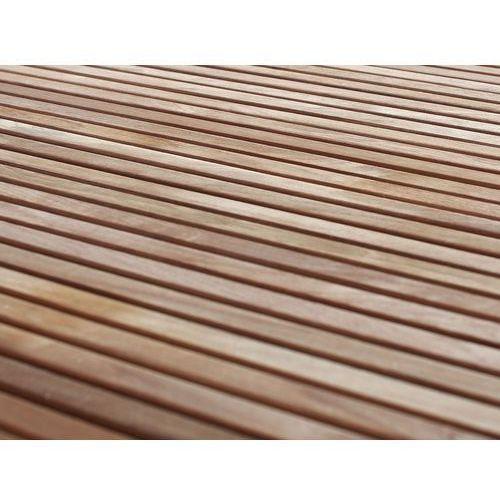 Beliani Stół ogrodowy - Teak-Stal szlachetna - 1 x Stół 200 x 90cm - VIAREGGI