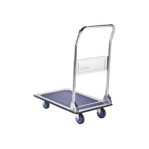 Quipo Wózek platformowy, nośność 170 kg, ocynkowany / chromowany. wzmocniona powierzch