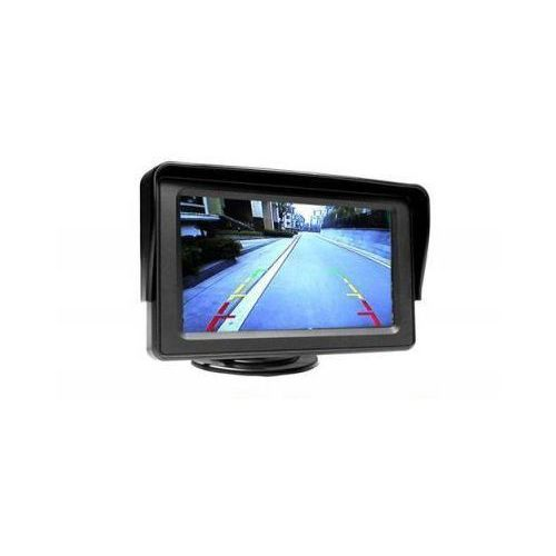 """S.t.i. ltd. Samochodowy mały monitor lcd 4,3"""", do kamery cofania, dvd.. + podstawka + daszek + 2 kanały video..."""