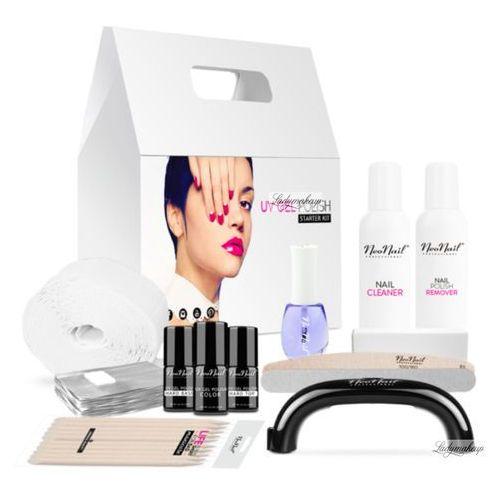 - starter set - zestaw startowy do manicure hybrydowego z czarną lampą 9 w - 5028-1 marki Neonail