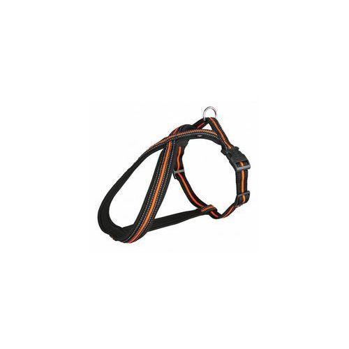 uprząż fusion m-l 50-80cm/23mm czarno-pomarańczowa [tx-20613] marki Trixie