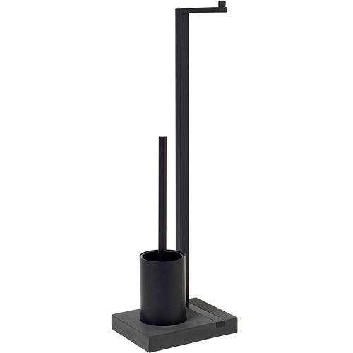Czarny stojak na papier toaletowy i szczotkę do wc menoto (b69151) marki Blomus