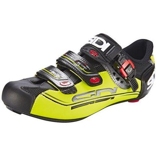 Sidi genius 7 mega buty mężczyźni żółty/czarny 44,5 2018 buty szosowe zatrzaskowe