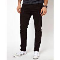 Farah Drake Slim Fit Jeans in Black Twill - Black, slim