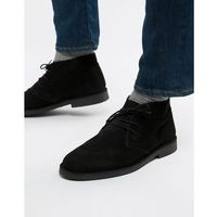 desert boot in black - black marki Selected homme