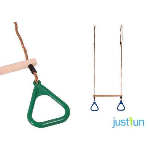 Trapez z trójkątnymi obręczami - zielony marki Just fun