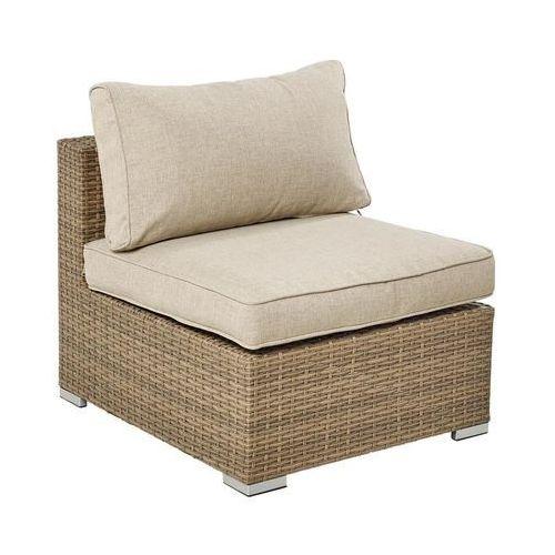 Fotel ogrodowy SANTORNI technorattanowy brązowy NATERIAL (8424385167011)
