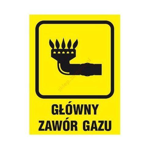 Znak Główny zawór gazu z kategorii Znaki informacyjne i ostrzegawcze