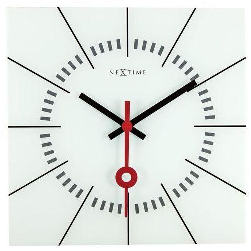 NeXtime - Zegar ścienny Stazione - biały, kolor biały
