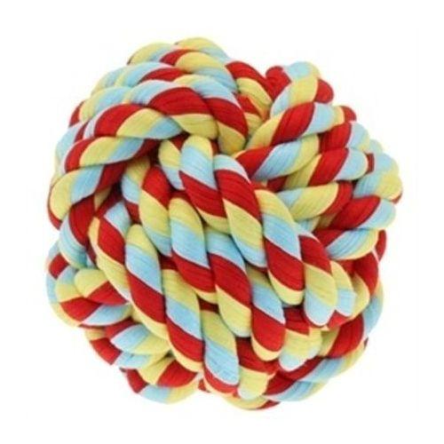 Happypet Kolorowa piłka dla psa wykonana z mocno splecionego sznura