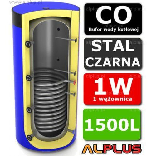 Bufor LEMET 1500L z 1 Wężownicą do CO - Zbiornik Buforowy Zasobnik Akumulacyjny 1500 litrów - Wysyłka Gratis