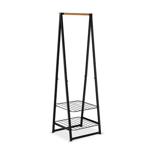 - wieszak na ubrania z półkami, 60,00 cm, czarny - czarny marki Brabantia