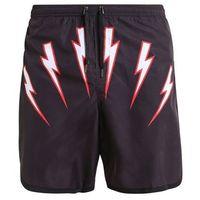 Neil Barrett THUNDERVOLT 1 SWIMWEAR Szorty kąpielowe black/white/red, w 3 rozmiarach
