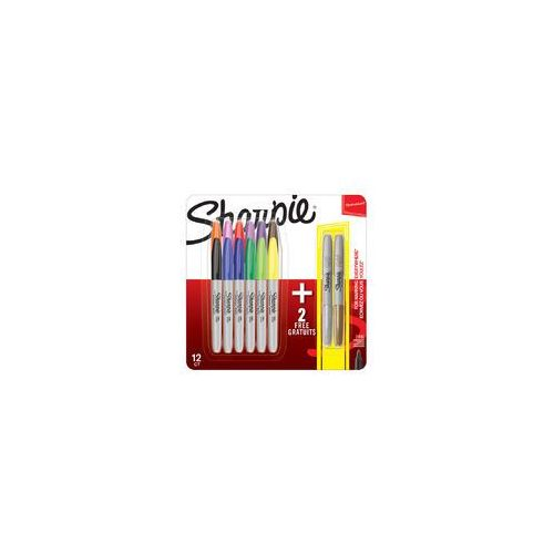 Markery permanentne sharpie 12 + 2 kolorów fine marki Sharpie sanford brands