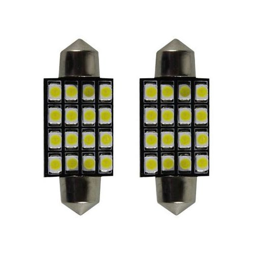 Żarówka samochodowa LED C5W, 16 X LED, 39MM + Bezpłatna natychmiastowa gwarancja wymiany!, 15004
