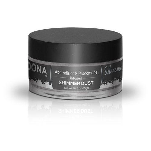 Lśniący jadalny puder do ciała z feromonami - Dona Shimmer Dust 25 ml Srebrny