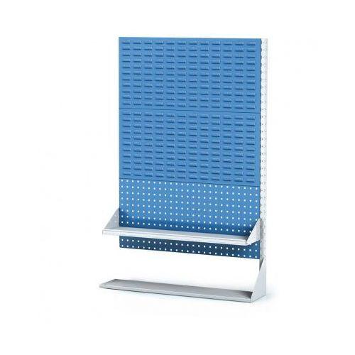 Perforowany stojak z panelem na pojemniki, narzędzia i półkę 3 piętra, dostawne pole marki B2b partner