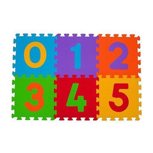 Babyono 275 6szt puzzle piankowe cyfry 6m+ (5901435404256)