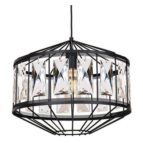 Lampa wisząca elegance, czarna, szlifowane szkło marki Luminex